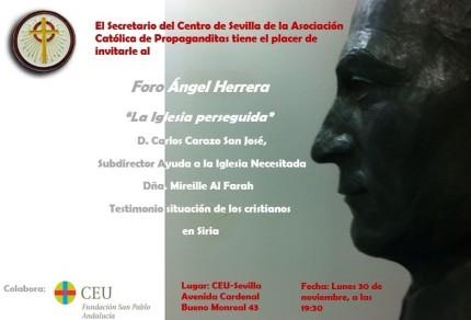 Foro Angel Herrera. 30 noviembre 2015