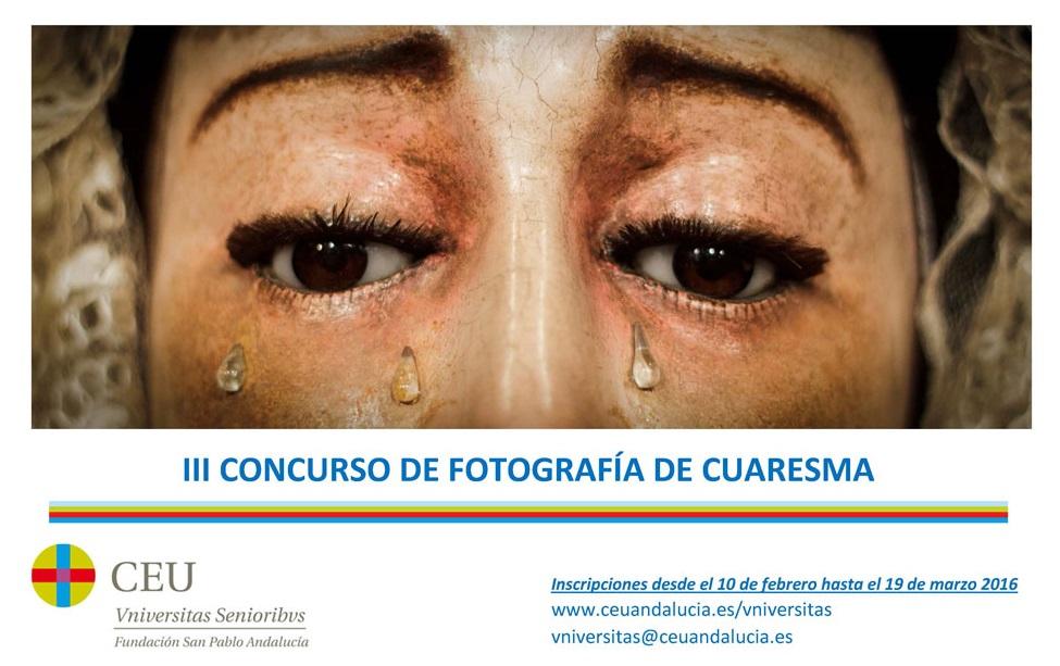 III concurso de fotografía de cuaresma