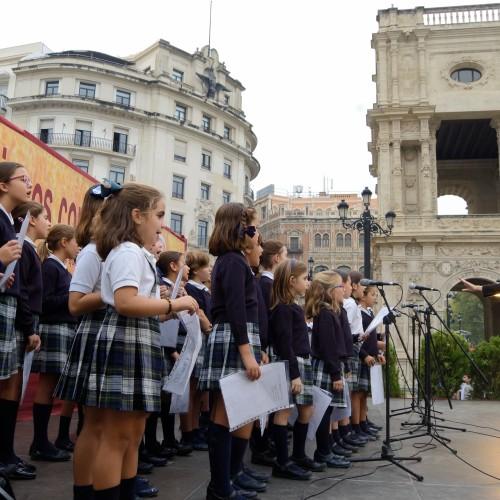 La Escolanía del Colegio San Pablo CEU Sevilla participa en la Muestra de la Misericordia